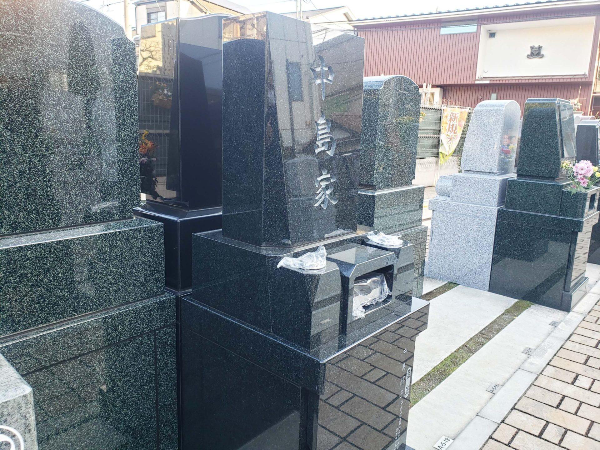 ハートフルガーデン葛飾鎌倉<br>中島家墓石工事